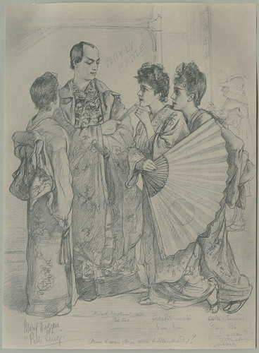 Print, from Mikado, Aren't we three nice little maids?