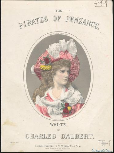 Illustrated sheet music, The Pirates of Penzance Waltz