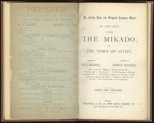 Libretto, The Mikado