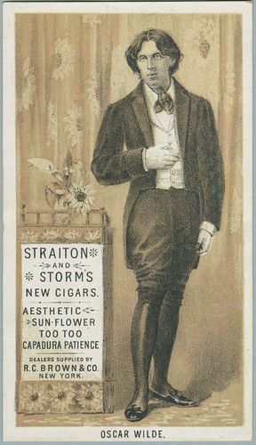 Trade Card, Oscar Wilde advertises Straiton and Storm's Cigars