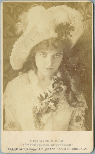 Carte-de-visite, Pirates of Penzance, Marion Hood as Mabel in the Original London Production of the Pirates of Penzance
