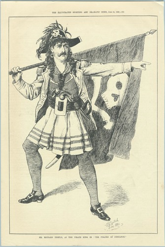 Engraving, Mr. Richard Temple as the Pirate King in the Pirates of Penzance