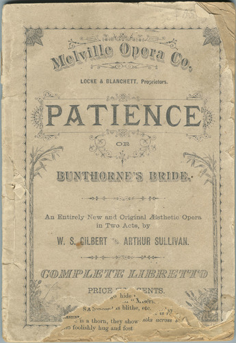 Libretto, The Duke's Song, from Patience