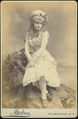 Cabinet Photograph, Portrait of Lilian Russell, Bijou Opera House Production of Patience