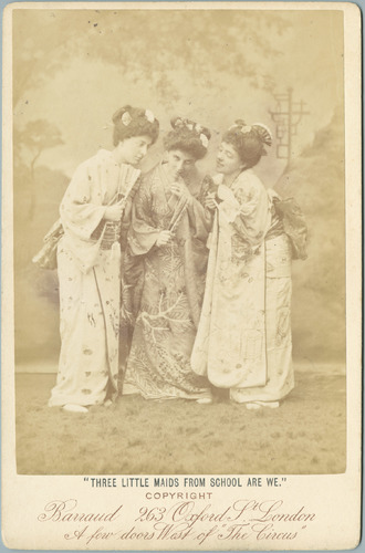Cabinet photograph, Three Little Maids from School are We