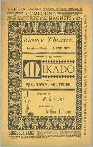 Program, The Mikado